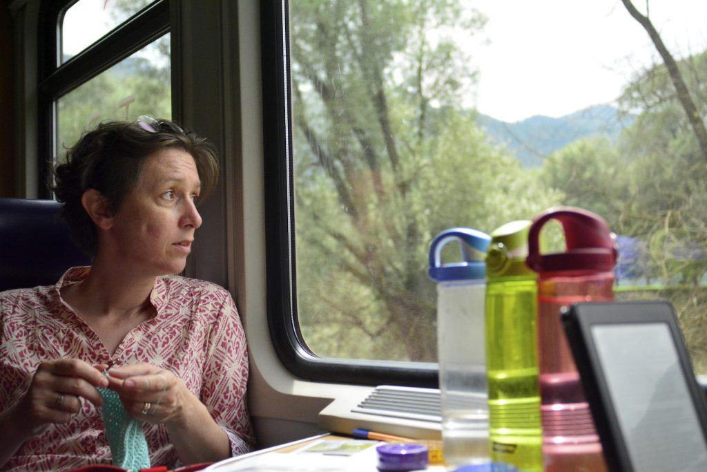 Bahnfahrt_Gabi-schaut-aus-dem-Fenster_kl