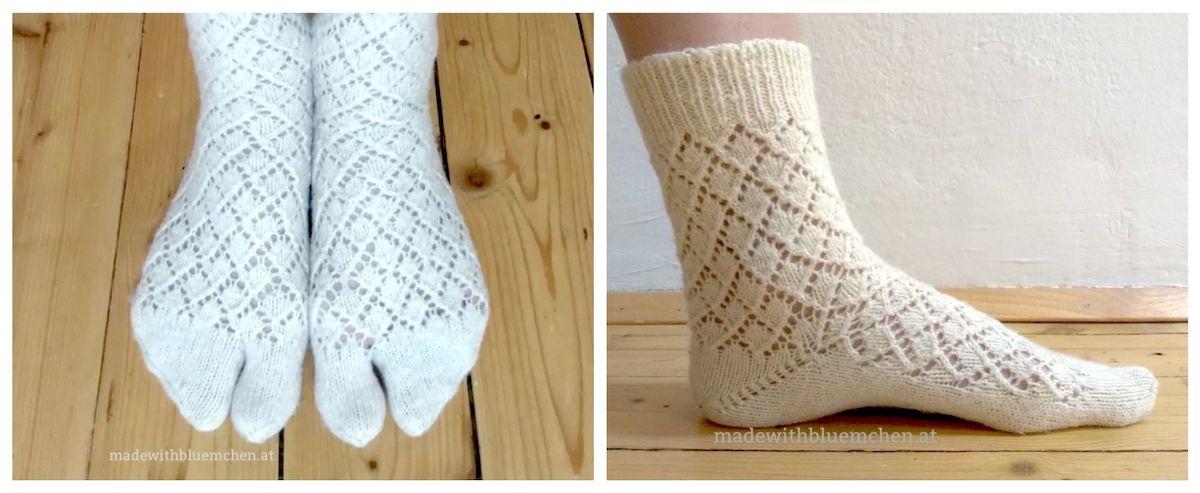 Flip Flop Socken Tabi stricken {Tutorial} made with Blümchen
