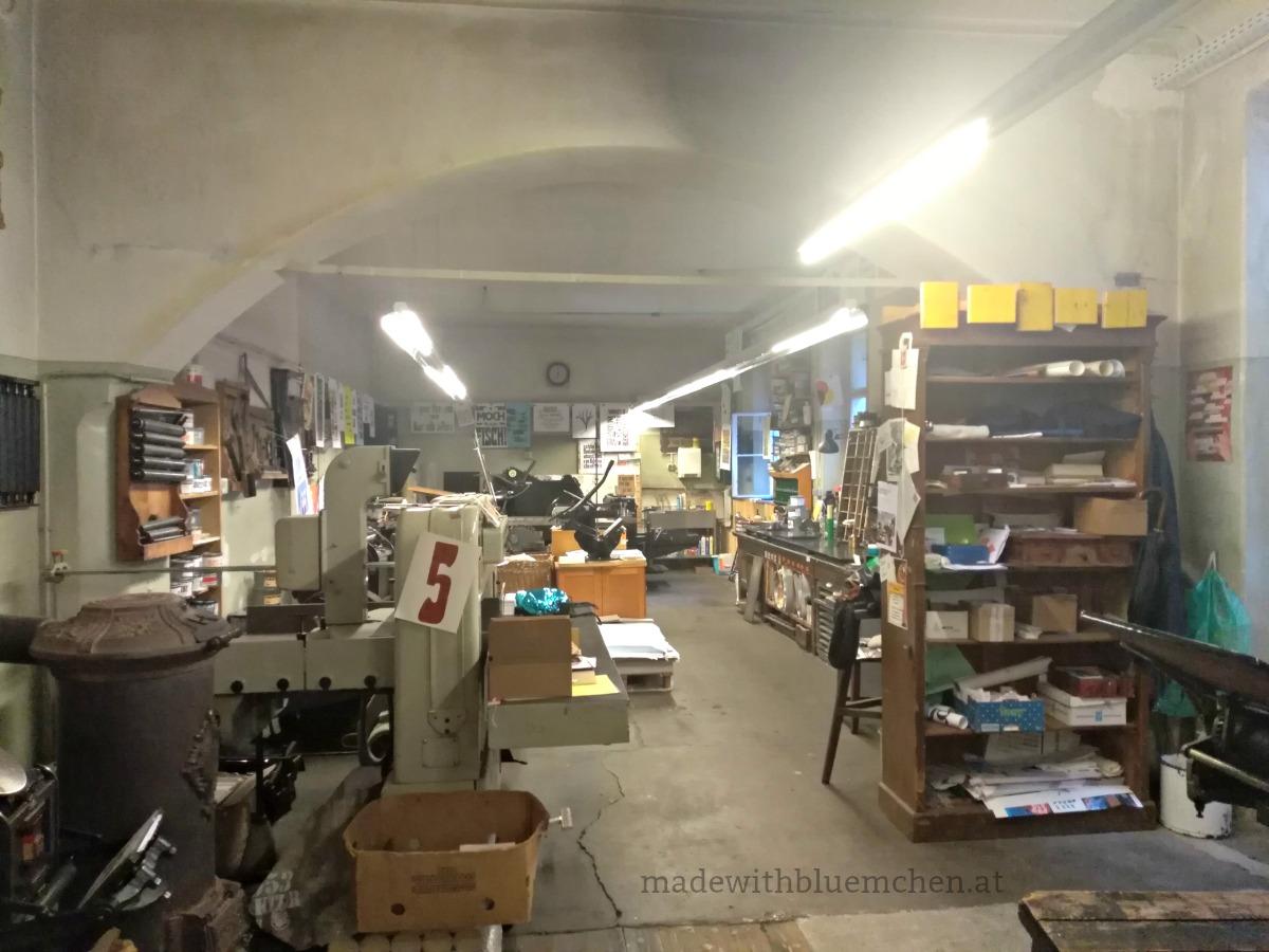 In der ehemaligen Druckerei Bauer: Druckraum